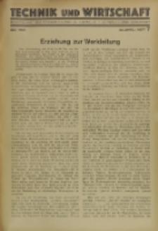 Technik und Wirtschaft : Monatsschrift des Vereines Deutscher Ingenieure, Jg. 23, H. 7
