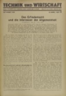 Technik und Wirtschaft : Monatsschrift des Vereines Deutscher Ingenieure, Jg. 23, H. 9
