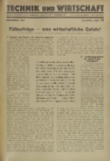 Technik und Wirtschaft : Monatsschrift des Vereines Deutscher Ingenieure, Jg. 23, H. 11