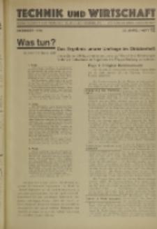Technik und Wirtschaft : Monatsschrift des Vereines Deutscher Ingenieure, Jg. 23, H. 12