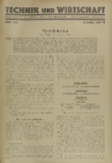 Technik und Wirtschaft : Monatsschrift des Vereines Deutscher Ingenieure, Jg. 22, H. 4