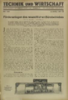 Technik und Wirtschaft : Monatsschrift des Vereines Deutscher Ingenieure, Jg. 22, H. 5