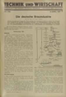 Technik und Wirtschaft : Monatsschrift des Vereines Deutscher Ingenieure, Jg. 22, H. 7