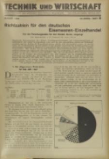 Technik und Wirtschaft : Monatsschrift des Vereines Deutscher Ingenieure, Jg. 22, H. 8