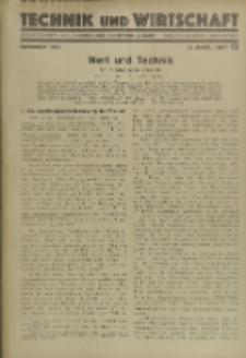Technik und Wirtschaft : Monatsschrift des Vereines Deutscher Ingenieure, Jg. 22, H. 12