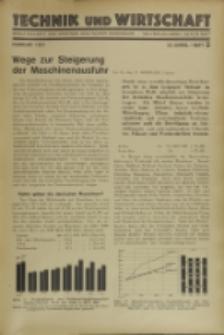 Technik und Wirtschaft : Monatsschrift des Vereines Deutscher Ingenieure, Jg. 24, H. 2
