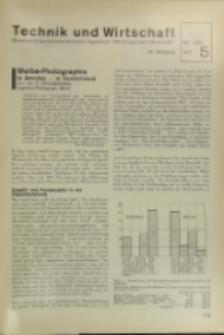 Technik und Wirtschaft : Monatsschrift des Vereines Deutscher Ingenieure, Jg. 24, H. 5