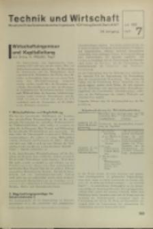 Technik und Wirtschaft : Monatsschrift des Vereines Deutscher Ingenieure, Jg. 24, H. 7