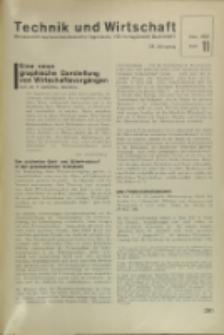 Technik und Wirtschaft : Monatsschrift des Vereines Deutscher Ingenieure, Jg. 24, H. 11