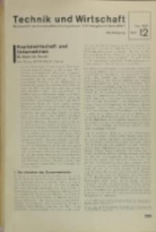 Technik und Wirtschaft : Monatsschrift des Vereines Deutscher Ingenieure, Jg. 24, H. 12