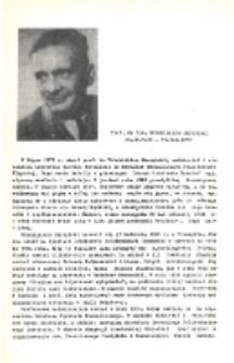 Prof. dr inż Włodzimierz Burzyński 29.04.1900-11.08.1970