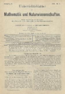 Unterrichtsblätter für Mathematik und Naturwissenschaften, Jg. 10, No. 6