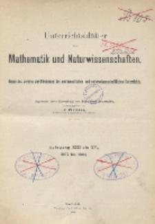 Inhalts - Verzeichnis. Jg. XIII bis XV., 1907 bis 1909