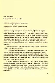 """Krajowa Narada Naukowo-Techniczna na temat: """"Skrawalność Stali Automatowych"""""""