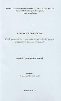 Dobór parametrów regulatorów w systemie sterowania urządzeniem do reedukacji chodu