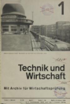 Technik und Wirtschaft : Monatsschrift des Vereines Deutscher Ingenieure, Jg. 26, H. 1