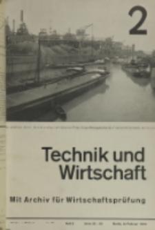 Technik und Wirtschaft : Monatsschrift des Vereines Deutscher Ingenieure, Jg. 26, H. 2