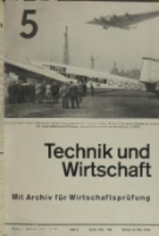 Technik und Wirtschaft : Monatsschrift des Vereines Deutscher Ingenieure, Jg. 26, H. 5