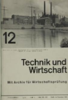 Technik und Wirtschaft : Monatsschrift des Vereines Deutscher Ingenieure, Jg. 26, H. 12