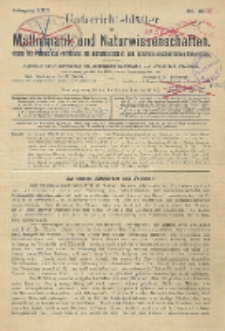 Unterrichtsblätter für Mathematik und Naturwissenschaften. Jg. 22, No. 1