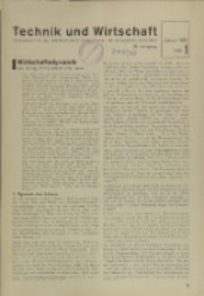 Technik und Wirtschaft : Monatsschrift des Vereines Deutscher Ingenieure, Jg. 28, H. 1