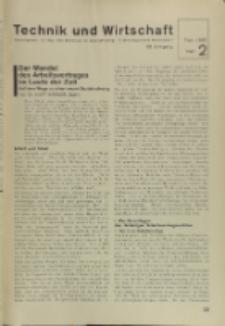 Technik und Wirtschaft : Monatsschrift des Vereines Deutscher Ingenieure, Jg. 28, H. 2