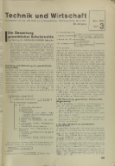 Technik und Wirtschaft : Monatsschrift des Vereines Deutscher Ingenieure, Jg. 28, H. 3