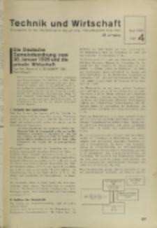 Technik und Wirtschaft : Monatsschrift des Vereines Deutscher Ingenieure, Jg. 28, H. 4