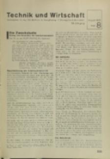Technik und Wirtschaft : Monatsschrift des Vereines Deutscher Ingenieure, Jg. 28, H. 8