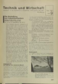 Technik und Wirtschaft : Monatsschrift des Vereines Deutscher Ingenieure, Jg. 28, H. 9