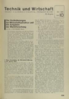 Technik und Wirtschaft : Monatsschrift des Vereines Deutscher Ingenieure, Jg. 28, H. 10