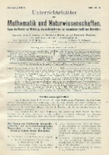 Unterrichtsblätter für Mathematik und Naturwissenschaften. Jg. 22, No. 6