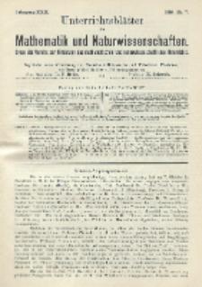 Unterrichtsblätter für Mathematik und Naturwissenschaften. Jg. 22, No. 7