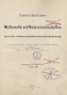 Inhalts - Verzeichnis. Jg. XXII bis XXIV., 1916 bis 1918