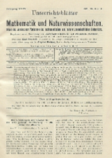 Unterrichtsblätter für Mathematik und Naturwissenschaften. Jg. 24, No. 3 u. 4
