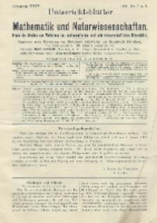 Unterrichtsblätter für Mathematik und Naturwissenschaften. Jg. 24, No. 7 u. 8
