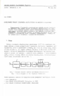 Modelowanie układu sterowania adaptacyjnego na maszynie analogowej