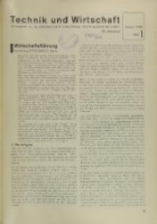 Technik und Wirtschaft : Monatsschrift des Vereines Deutscher Ingenieure, Jg. 29, H. 1