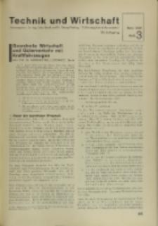Technik und Wirtschaft : Monatsschrift des Vereines Deutscher Ingenieure, Jg. 29, H. 3
