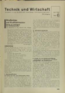 Technik und Wirtschaft : Monatsschrift des Vereines Deutscher Ingenieure, Jg. 29, H. 6