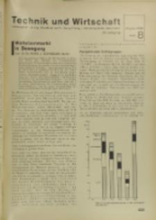 Technik und Wirtschaft : Monatsschrift des Vereines Deutscher Ingenieure, Jg. 29, H. 8