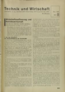 Technik und Wirtschaft : Monatsschrift des Vereines Deutscher Ingenieure, Jg. 29, H. 11