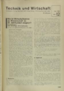 Technik und Wirtschaft : Monatsschrift des Vereines Deutscher Ingenieure, Jg. 29, H. 12
