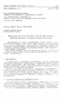 Modelowanie matematyczne ruchu zespołu wrzecionowego wiertarko-frezarki w aspekcie procesu wytaczania