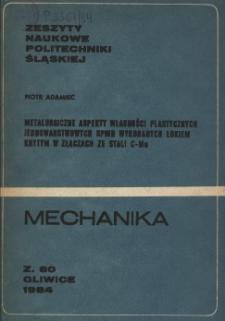 Metalurgiczne aspekty własności plastycznych jednowarstwowych spoin wykonanych łukiem krytym w złączach ze stali C-Mn