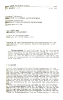 Vorschlag für eine rechnerintegrierte Fertigungsprozessplanung und -steuerung in den quasi-flexiblen Bearbeitungsinseln von NC- und -CNC-Maschinen