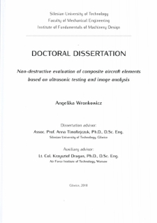 Non-destructive evaluation of composite aircraft elements based on ultrasonic testing and image analysis