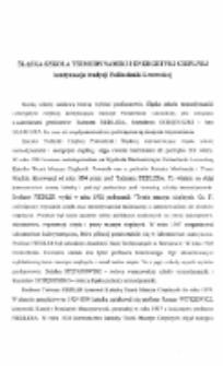 Śląska szkoła termodynamiki i energetyki cieplnej kontynuacja tradycji Politechniki Lwowskiej