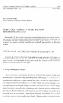 Model gazu szarego i model pasmowy promieniowania gazu