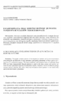 Uwarunkowania oraz kierunki rozwoju jednostek napędowych pojazdów samochodowych